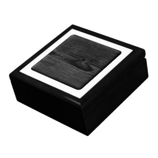 Black Wood Image. Gift Box