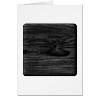 Black Wood Image. Greeting Card