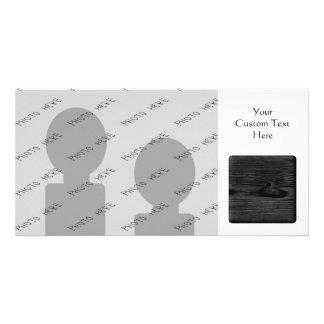 Black Wood Image. Personalized Photo Card