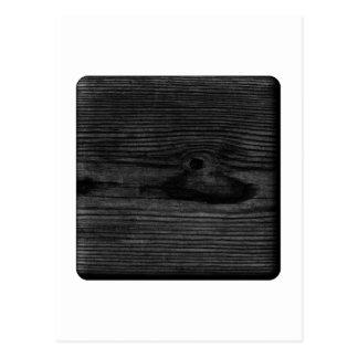 Black Wood Image. Postcard