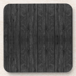 Black Wood Wall Texture Structure Coaster