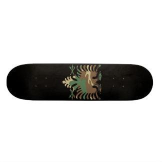 Black Woodland Albanian Eagle Skateboard