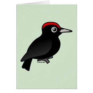 Black Woodpecker Card