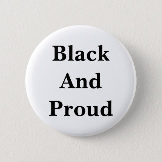 Black words on a white background--the way it is. pinback button