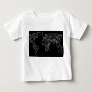 Black world atlas baby T-Shirt