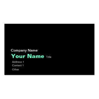 Black world atlas business card template
