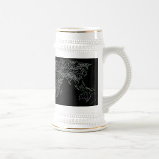 Black world atlas mugs