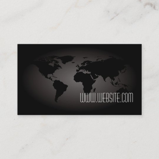 Black World Map Atlas Professional Business Card on wedding maps, social media maps, wallpaper maps, business map maker, full page maps, business cards old world, envelope maps, tract maps,