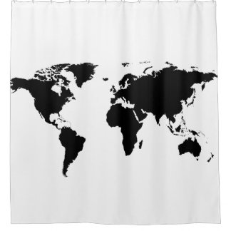 Geography shower curtains zazzle - Old world map shower curtain ...