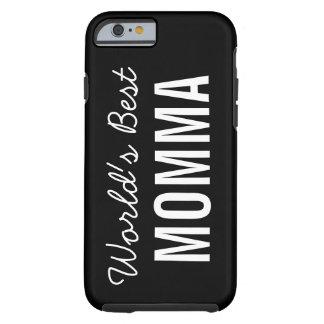 Black World's Best Momma Custom iPhone 6 Case