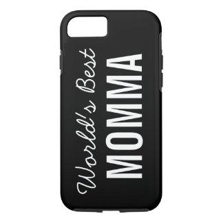 Black World's Best Momma Custom iPhone 7 Case