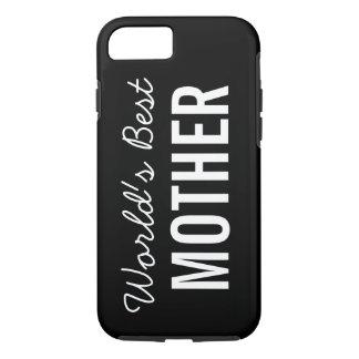 Black World's Best Mother Custom iPhone 7 Case
