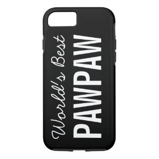 Black World's Best Pawpaw Custom iPhone 7 Case
