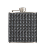 Black Woven Leather - Flask Flasks