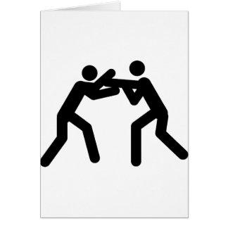 black wrestling sport icon card