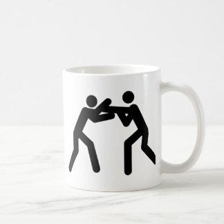 black wrestling sport icon coffee mug