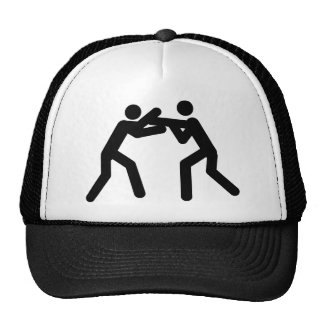 black wrestling sport icon trucker hat