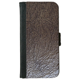 Black Wrinkle Leather Look Wallet Phone Case For iPhone 6/6s
