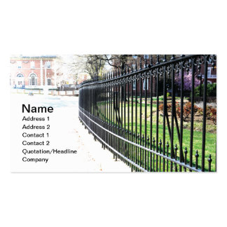 black wrought iron fence Double-Sided standard business cards (Pack of 100)