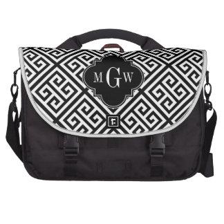 Black Wt Med Greek Key Diag T Black 3I Monogram Laptop Bag