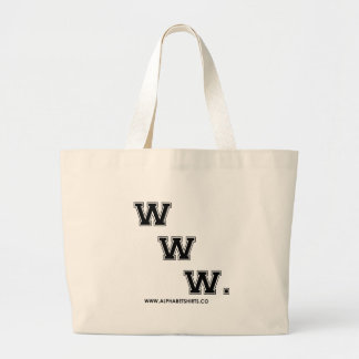Black WWW Tote Bag