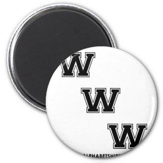 Black WWW Refrigerator Magnets