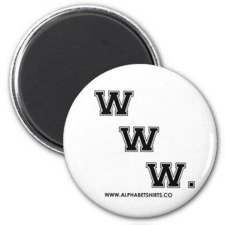 Black WWW Fridge Magnet
