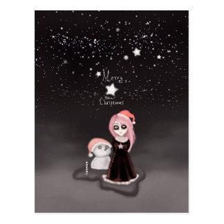 Black Xmas: A Merry Gothic Christmas Postcard