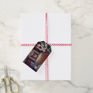 BLACK XMAS: Brighten up the Christmas lights Pack Of Gift Tags