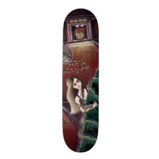 BLACK XMAS: Brighten up the Christmas lights Skateboard Deck