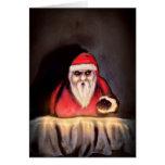 Black Xmas: Santa Claus is Here Greeting Card