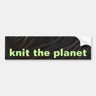Black Yarn Car Bumper Sticker