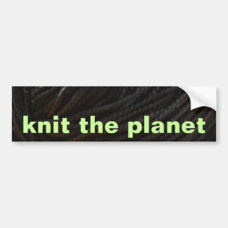 Black Yarn Bumper Sticker
