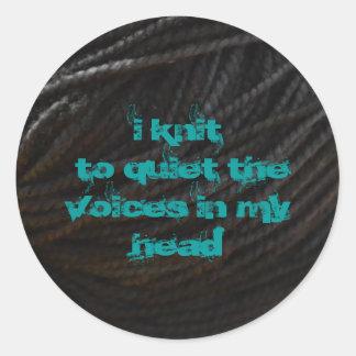 Black Yarn Classic Round Sticker