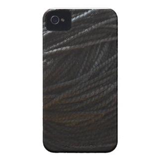 Black Yarn iPhone 4 Case