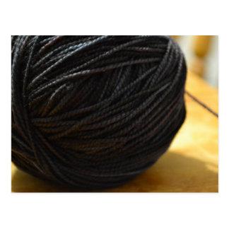 Black Yarn Postcard