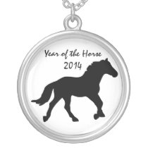 Black Year of the Horse Necklace