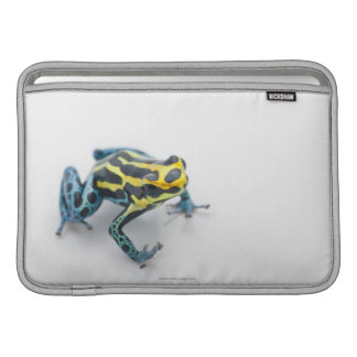 Black, Yellow and Blue Poison Dart Frog MacBook Sleeves