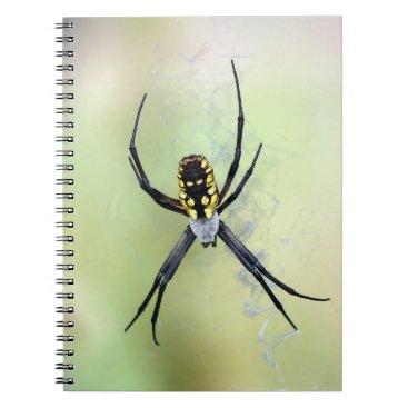 Halloween Themed Black & Yellow Argiope Garden Spider Notepad Notebook