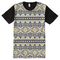Black yellow aztec tribal hobo pattern All-Over-Print shirt