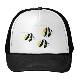 Black & Yellow Bannerfish Hats