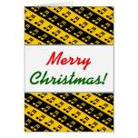 [ Thumbnail: Black & Yellow Beamed Sixteenth Notes Pattern ]