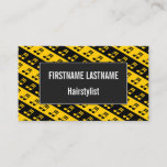 [ Thumbnail: Black & Yellow Beamed Sixteenth Notes Pattern Card ]