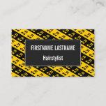 [ Thumbnail: Black & Yellow Beamed Sixteenth Notes Pattern Card ]