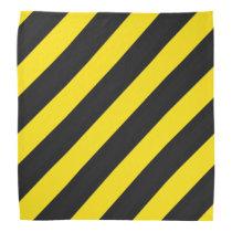 Black, Yellow Bee Color Stripes Bandana