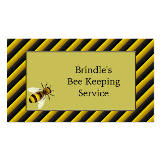 Black & Yellow Bee Keeper Double-Sided Standard Business Cards (Pack Of 100)