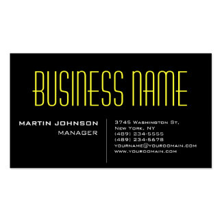 Black Yellow Charming Manager Business Card
