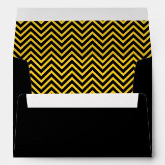 Black & Yellow Chevron Envelope