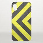 [ Thumbnail: Black & Yellow Chevron-Like Pattern Phone Case ]