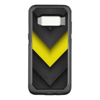 Black & Yellow Chevron Pattern Design OtterBox Commuter Samsung Galaxy S8 Case